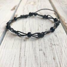 Black Anklet Clearwater Black Bead