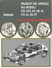 PEUGEOT 205 GTI GTX GT CTI WORKSHOP MANUAL DE TALLER REPARACION REVUE TECHNIQUE