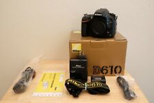 Nikon D610 24.3MP BODY ONLY - MINT CONDITION