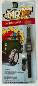 Rare 1983 Mr. T Reversible Action Watch W/ Flashing Lights Vintage Zeon UK MOC