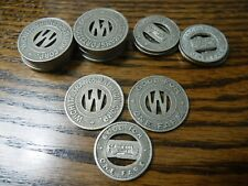 Wichita Kansas Transit tokens - 5 Ks 970-C and 10 Ks 970-G | 15 tokens total