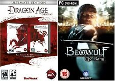 Dragon Age Origins Ultimate Edition & beowulf the game   new&sealed