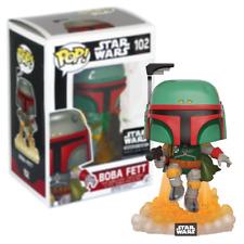 New Star Wars Boba Fett Flying Pop Vinyl Bobble-Head Figure #102 Funko Official