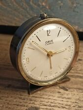 Vintage ~Swiss Made ~ORIS ~Travel Alarm Clock ~VGC ~Good Working Order