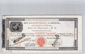 Caisse d'échange de Rouen 100 Francs An 12 n° 706 Pick S 246 b