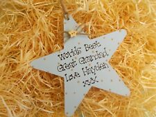 Personalised Great Grandad Star Plaque Gift Keepsake Fathers Day Birthday