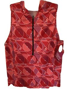 NWT TERRY Women's Cycling Jersey 1/2 Zip Sleeveless Pink Red Size XL