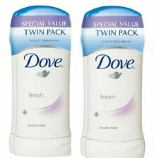 Dove Fresh Antiperspirant Deodorant, 2.6 oz, Twin Pack, Lot of 2