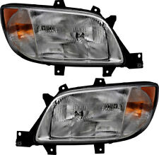 Headlights Assembly NEW Pair Set for 2003-206 Freightliner Sprinter 2500 3500
