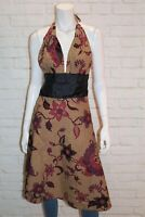 Bali Bagus Brand Multicolored Halter Neck Wrap  Dress Size M LIKE NEW #AN02