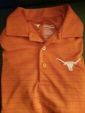 Longhorn Apparel Men's Polo Size M. Burnt Orange with the UT Logo.