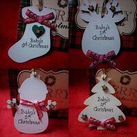 Snowman Reindeer Boots Personalised HandmadeBaby ornament-1st xmas