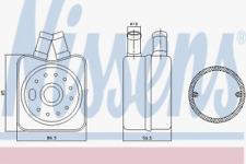 Ölkühler, Motoröl für Schmierung NISSENS 90608