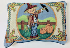 Scarecrow Harvest ~ Fall & Autumn ~ Halloween Rectangular Tapestry Pillow