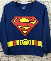 Superman sweatshirt juniors large supergirl pullover costume shirt new womens K2