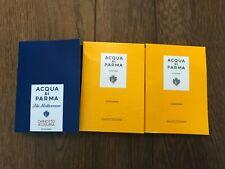 3 x Acqua di Parma EDT & Eau De Cologne 1.2ml Spray Vial Perfume