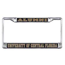 UCF CENTRAL FLORIDA Chrome ALUMNI License Plate / Tag Frame