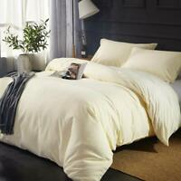 400 TC CREAM HOTEL DUVET COVER SET %100 EGYPTIAN COTTON BEDDING DOUBLE KING