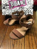 Brash 182713 WW Storm Mauve Women's Wedge Ankle Strap Heels Shoes Size 6W NWB