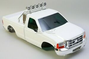 RC Truck Hard Body FORD F350 Body Shell Pickup Body Finished -WHITE-