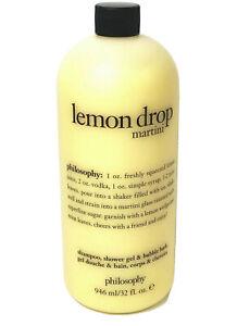 PHILOSOPHY Lemon Drop Martini Shampoo Bath Shower Gel 32oz UNSEALED