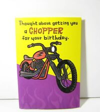 "HUMOROUS SPEAKING BIRTHDAY GREETING CARD - ""CHOPPERS"" SPEAK WHEN BUTTON PRESSED"