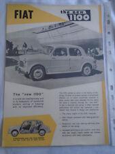 Fiat 1100 brochure c1950's