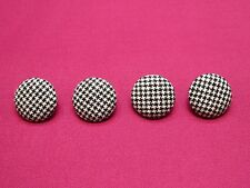 Classic Black and White Houndstooth Fabric-Covered Buttons!! Ideal for Suits!