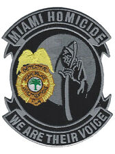 "Miami Police Homicide Investigations Detective Florida Patch - 4 7/8"" x 3 7/8"""