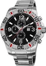 Akribos XXIV AK671SSB Swiss Quartz Month Day Date GMT Red Accented Mens Watch