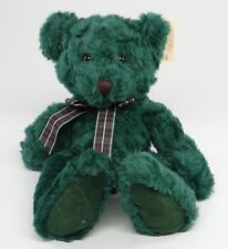 """RUSS BERRIE ~ BEARS FROM THE PAST ~ FOREST (1792) 14"""" Green Teddy Plush ~ NEW"""