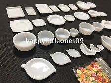 30pcs Doll House Tableware Miniature Kitchen Plate Set Mini Fruit Veggie Barbie