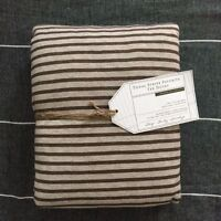 POTTERY BARN Teen tonal stripe favorite tee duvet cover only twin brown heather