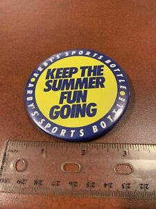 Arby's Sports Bottle Keep The Summer Fun Going Advertisement Pin Button