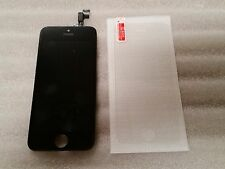 Iphone 5s Black LCD Digitizer Screen Assembly Digi  & Tempered Glass