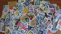 US stamp accumulation / kiloware,2 oz aprox. 900 stamps off paper, AC217
