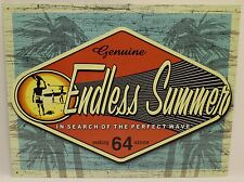 ENDLESS SUMMER METAL SIGN Surfing Genuine Label NEW Retro Reproduction USA Movie