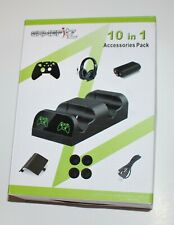 GameFitz 10 in 1 Accessories Pack for Xbox One Black Dual Charging Dock New NIP