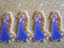 4 x Princess Rapunzel Flatback Planar Resin Embellishment Hair bow UK