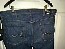 New 7 SEVEN FOR ALL MANKIND, RHIGBY Denim Blue Jeans Size 40, Retail $215