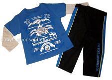 Ecko Unltd. toddler boys outfit layered look shirt & sporty pants sz 3T, NWT $54