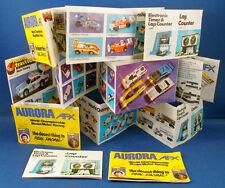 3 1978-82 Aurora Slot Car Intl 10-Fold Insert Catalogs