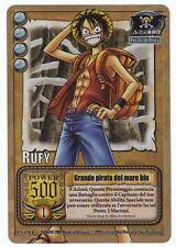 ONE PIECE CCG • Rufy Grande Pirata del Mare Blu FOIL CS-C04 • Rubber Lufy
