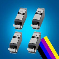 4 Grey ink Cartridge for CANON PGI520 MP620 MP630 MP980 MP980 MP990 MX860 2