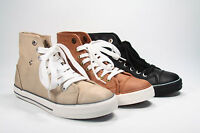 Women's Fashion Causal Flat  Lace Up Sneaker Shoes Black Ice Tan NEW 5.5 - 11