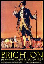 Brighton per la salute & piacere tutto l'anno treno viaggi in treno poster stampati