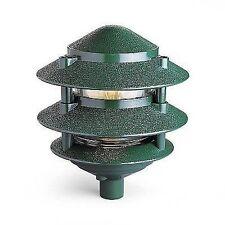 3-Tier Pagoda Lights GREEN FOR A19 120V LAMPS OR 12V  LAMPS LANDSCAPE LIGHTING