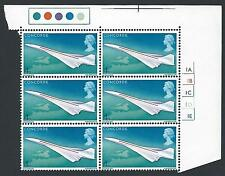 1969 Concorde 4d Top Right Cylinder Block - MNH