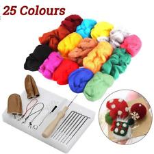 25 Colour Wool Felt Needles Tool Set Needle Felting Mat Starter Kit DIY Animal