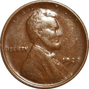 """1922 """"No D"""" Lincoln Wheat Cent, FS-402, Die Pair 1, Attractive VF to XF"""